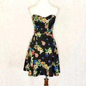 Gabriella Rocha Strapless Floral Fit & Flare Dress